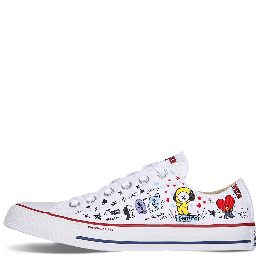 3e17532d1f9821 BT21 x Converse Chuck Taylor All Star White Low Tops