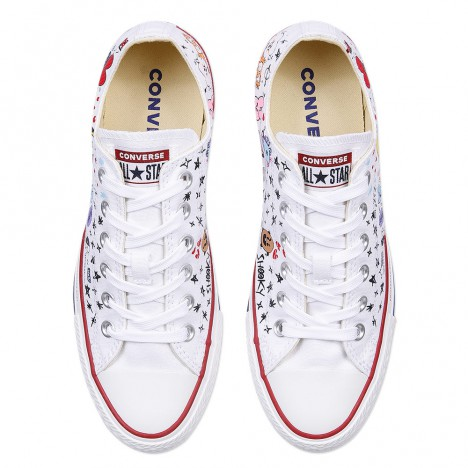 BT21 x Converse Chuck Taylor All Star White Low Tops