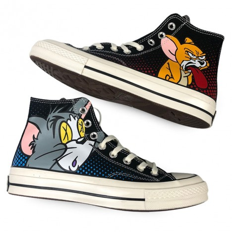 Black Converse Chuck Taylor All-Star 70s Hi Tom and Jerry