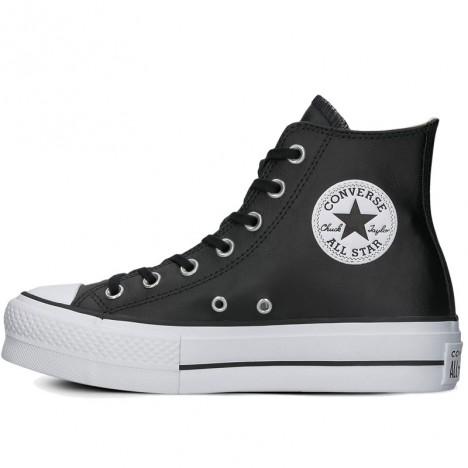 Black Converse Chuck Taylor All Star Platform Leather High Top