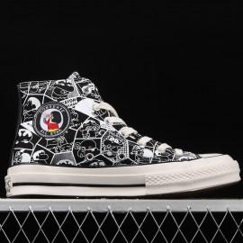 Black Crayon Shin-Chan Converse Chuck Taylor All Star High Top Shoes
