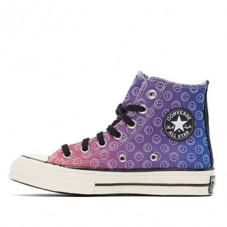 Cerise Pink Egret Unisex Converse Happy Camper Chuck 70 High Top Shoes