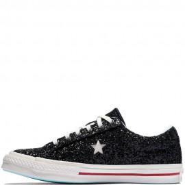 Chira Ferragni x Converse One Star Eyes Glitter Womens Black