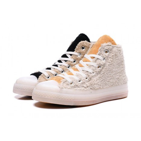 Clot x Converse Back Zip Winter High Top Shoes