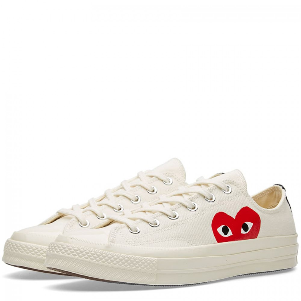 bb0bdc318def Comme des Garcons Play x Converse Chuck Taylor 1970s Low White