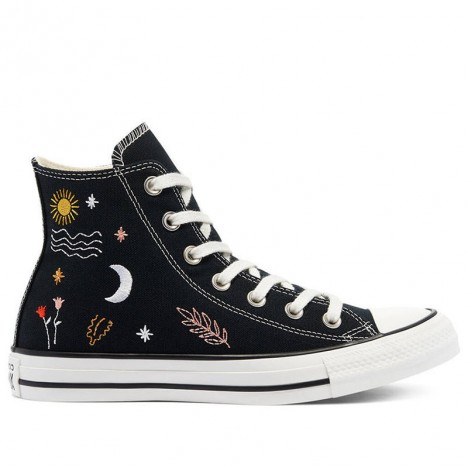 Converse All Star Lift It IS Ok To Wander Hi Black Shoes