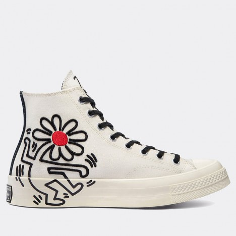 Converse Chuck 70 High Keith Haring Egret Black Shoes