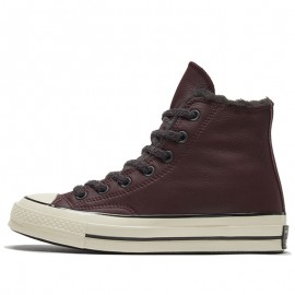 Converse Cozy Club Chuck 70 Warm Lining Brown Leather