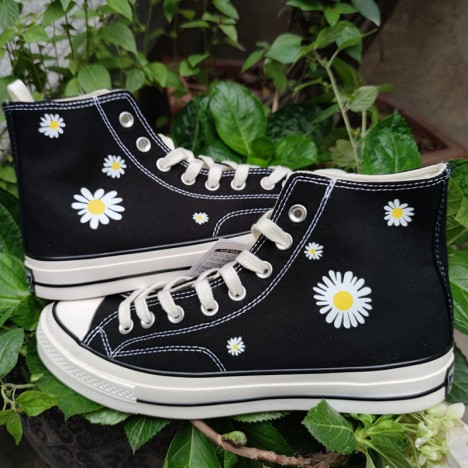 Converse Embroidered Floral Platform Chuck Taylor All Star High