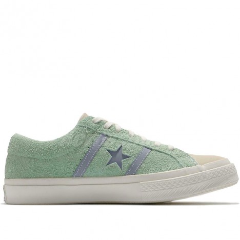 Converse One Star Academy Low OX Green Blue Suede Shoes