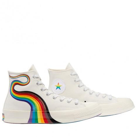 Converse Pride Chuck 70 Rainbow High Tops White