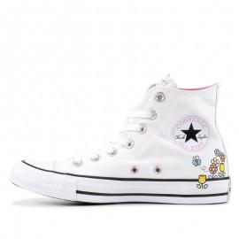 Converse x Hello Kitty White High Tops