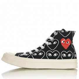 Converse Chuck Taylor All-Star 70s Hi Comme des Garcons Play All-Over Black