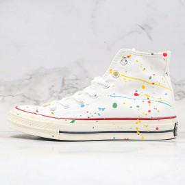 Converse All Star 1970s X Diy Paint Splatter Graffiti White High Top Shoes