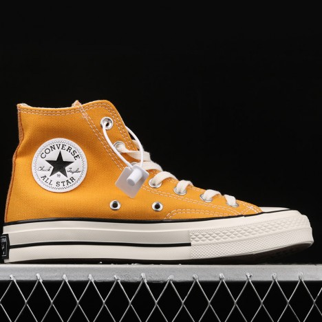 Converse All Star 70s One Piece Straw Hat Luffy High Top Shoes Yellow
