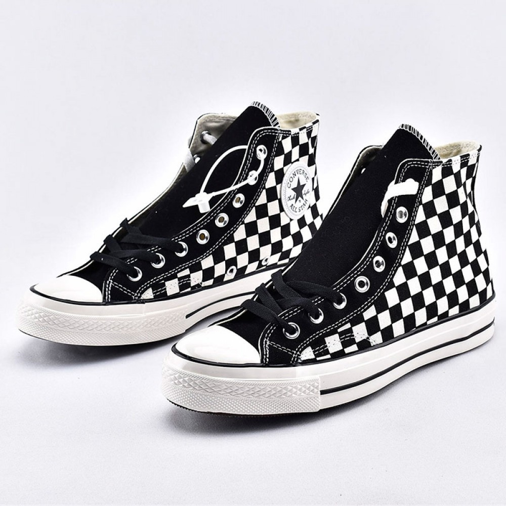 Pompiere vite periscopio  Converse All Star CT High Checkerboard Black White