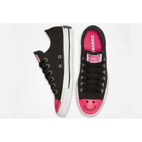 Converse All Star Carnival Colorblock Smile Low Top Black