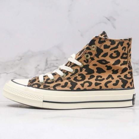 Converse All Star Chuck 70 High Top Leopard Canvas Shoes