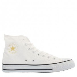 Converse All Star Gold Side Zipper High Tops White