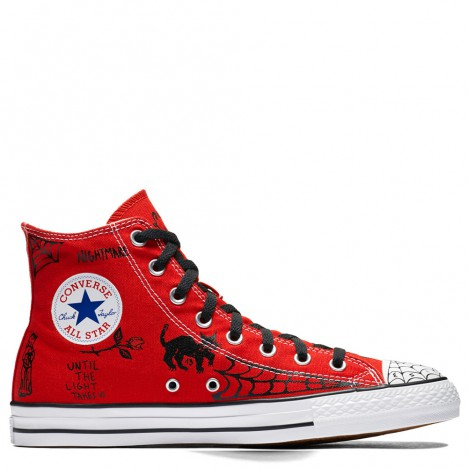 Converse All Star Pro Sean Pablo Red High Tops Chuck Taylor
