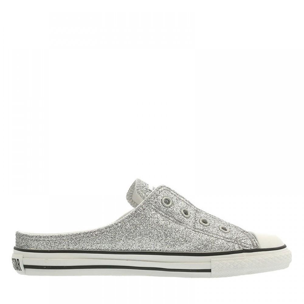 S Glittery Mule Slip Ox Women Shoes Silver