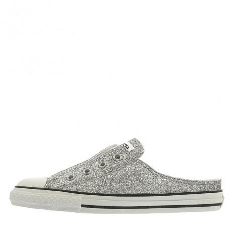 Converse All Star S Glittery Mule Slip Ox Women Shoes Silver