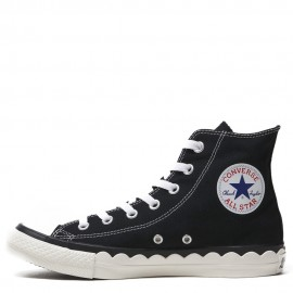 Converse All Star Scallop Shell Tape Black High Tops Shoes
