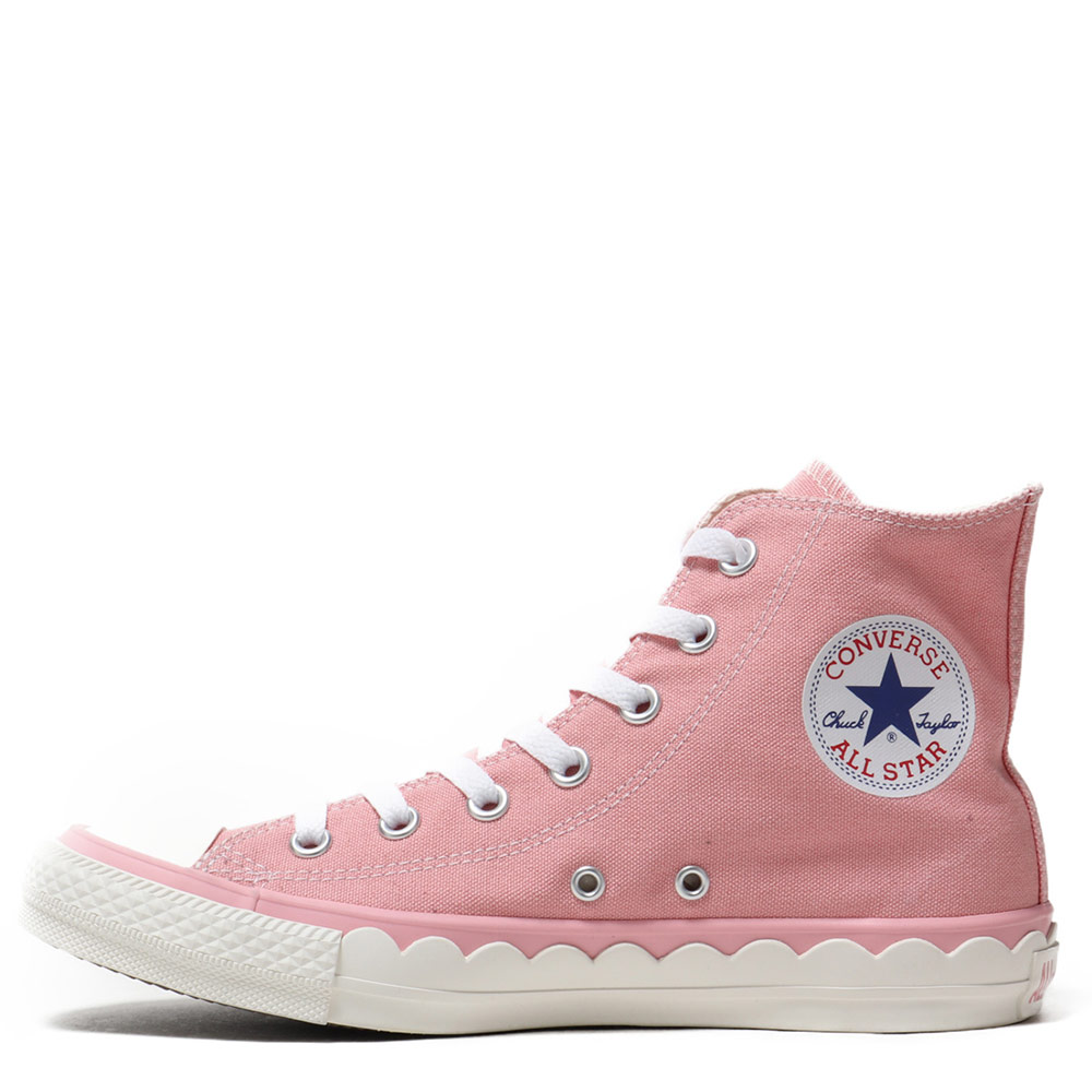 Converse All Star Scallop Tape Pink Womens High Tops Shoes 8049f106d