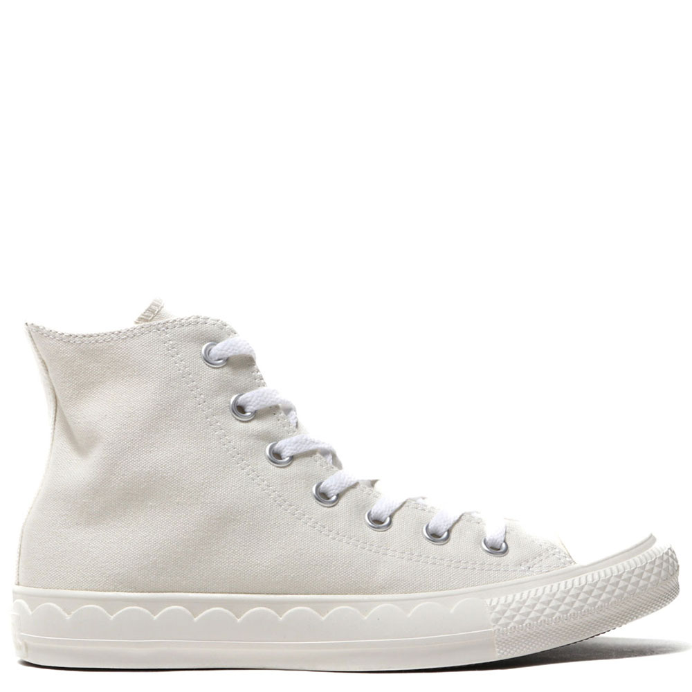 All Star Scallop Tape White High Tops Shoes