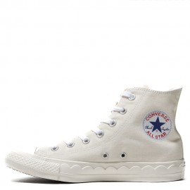 Converse All Star Scallop Tape White High Tops Shoes