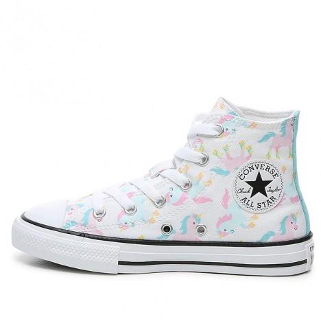 Converse All Star Unicorn White High For Girl