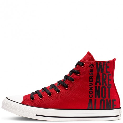 Converse All Star We Are Not Alone High Top Red