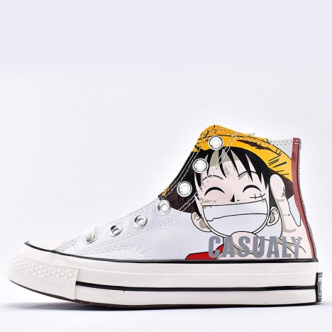 Converse All Star x One Piece Pt Hi Sneakers White