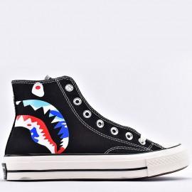 Converse Bape x Mastermind Japan Shark High Tops Black