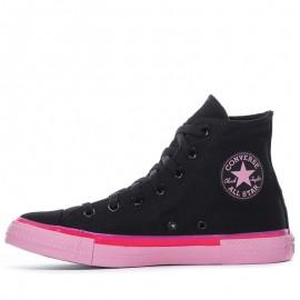 Converse Black Pink High Top Women Shoes
