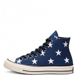 Converse Chuck 70 Archive Stars Print High Top Shoes Navy Blue