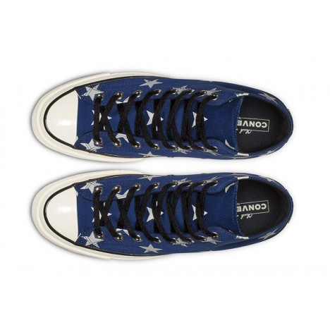 Converse Chuck 70 Archive Stars Print High Top Shoes Navy Blue