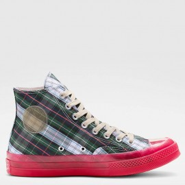 Converse Chuck 70 Green Plaid High Top