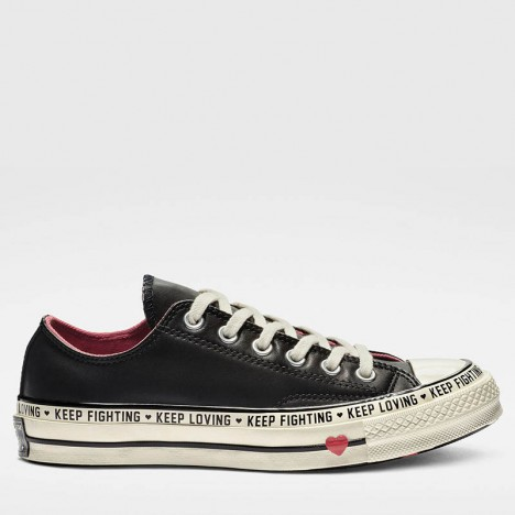 Converse Chuck 70 Love Graphic Low Top Black Leather