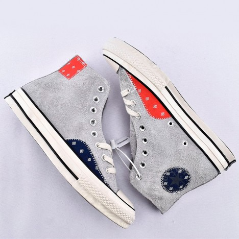 Converse Chuck 70 Mixed Material High Top Suede Grey Shoes