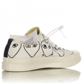 Converse Chuck 70s Comme Des Garcons Play Multi-heart Low White