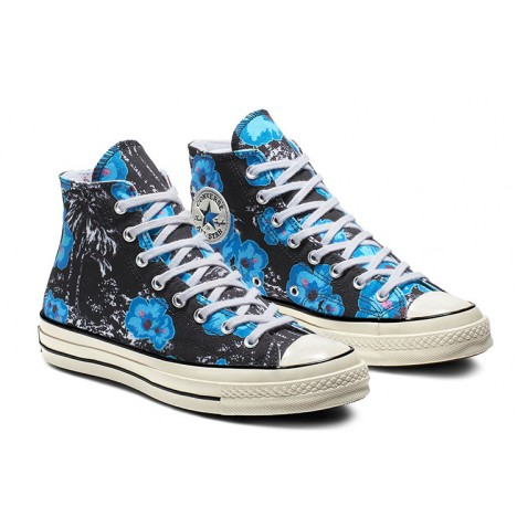 Converse Chuck 70s Parkway Blue Floral High Tops Shoes