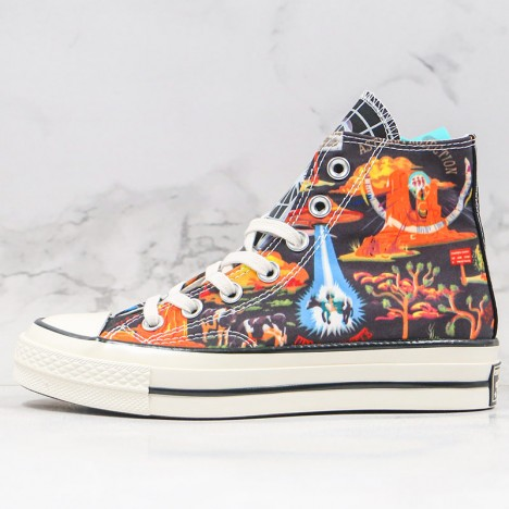 Converse Chuck All Star 70s Hi Twisted Resort Black Multi Egret Shoes