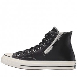Converse Chuck Taylor 1970s Side Zip Hi Leather Black Egret