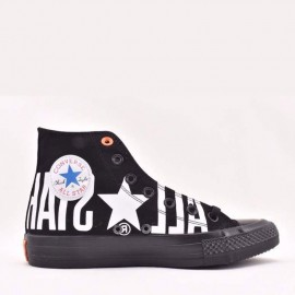 Converse Chuck Taylor All Star 100 Big Logo High Tops Shoes Black