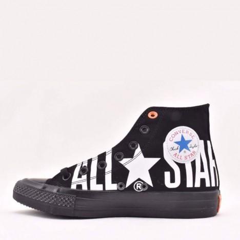 Converse Chuck Taylor All Star 100 Big Logo High Tops Shoes Black