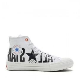 Converse Chuck Taylor All Star 100 Big Logo White High Tops Shoes