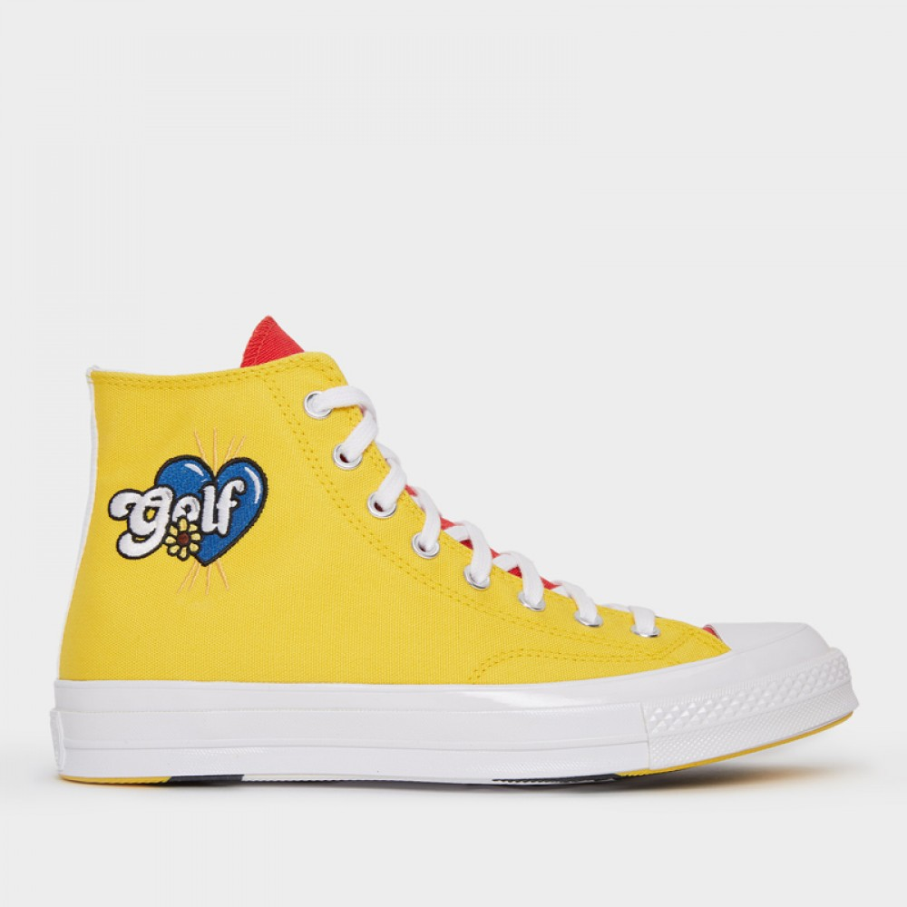 fingir costilla Hacer  Converse Chuck Taylor All Star 70s Hi Golf Wang Tripanel Blue Yellow Red