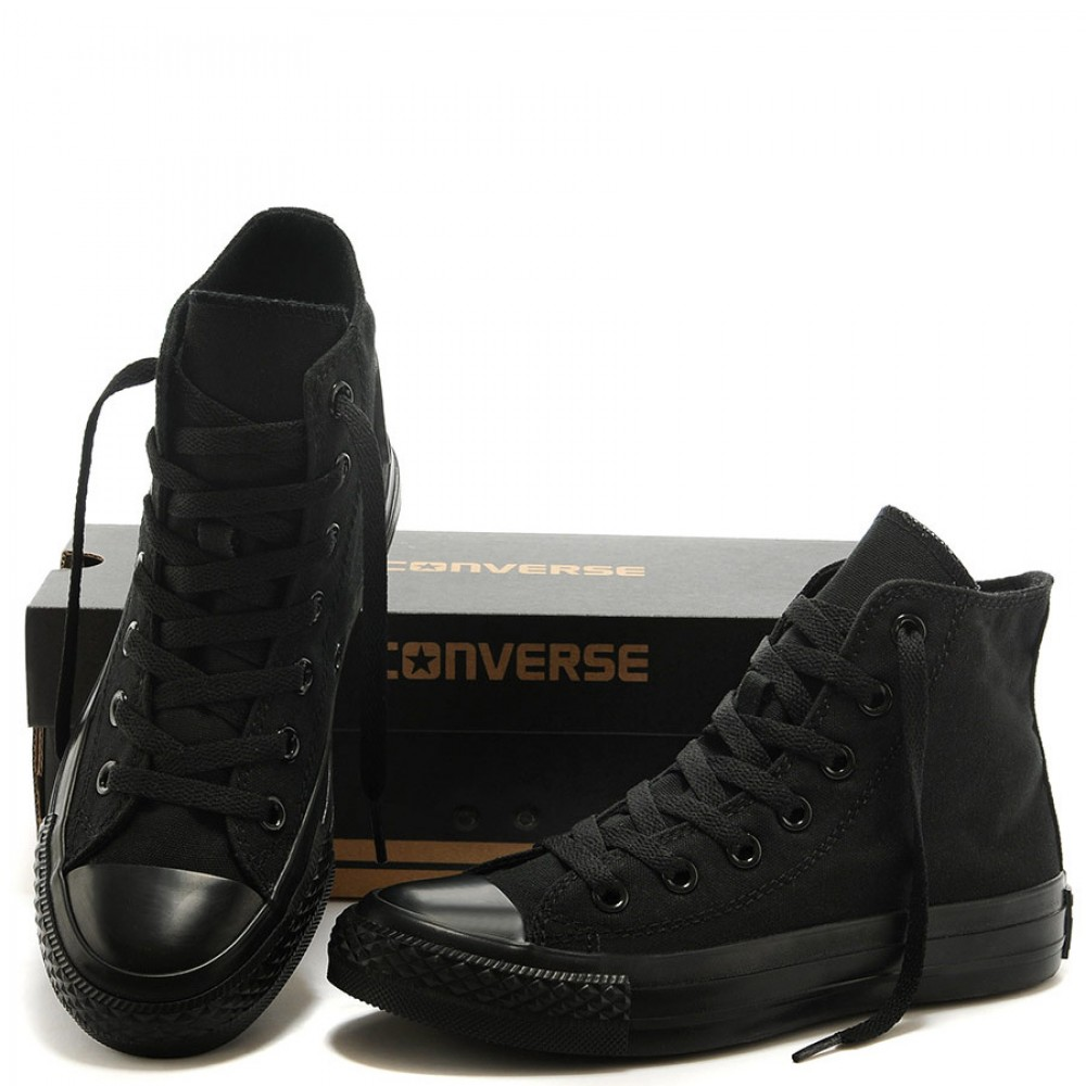 converse full black high