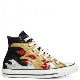 Converse Chuck Taylor All Star Glitter Flame High Top